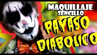 MAQUILLAJE DE PAYASO DIABÓLICO PARA HALLOWEEN⎢Evil Creepy Clown Makeup Tutorial
