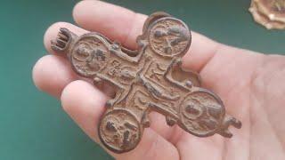 Архангел Сихаил Против Никита Бесогон Металлопластика ОБЗОР находок крест Энколпион 13 века