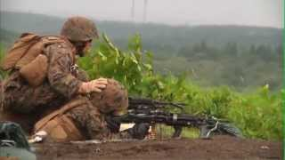 CAMP FUJI, JAPAN!  Marines Fire Machine Guns During Exercise Dragon Fire!