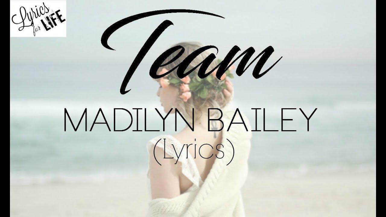 TEAM - Lorde (Madilyn Bailey cover) Lyrics - YouTube