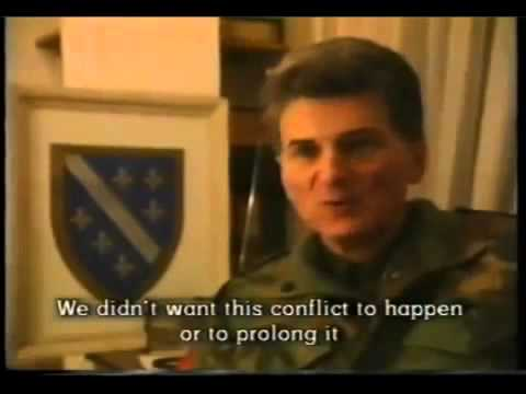 "Croatian aggression on Bosnia - Nazi puppet state of ""Greater Croatia""."