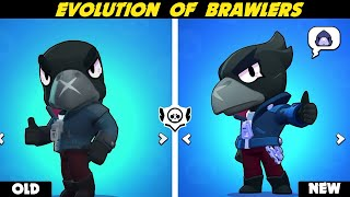 Brawl Stars | OLD VS NEW | EVERY BRAWLER REMODEL (2017-2020)