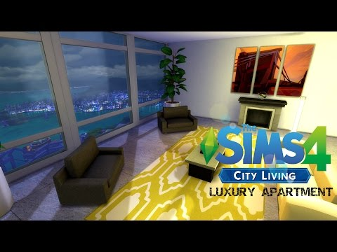LUXURY CITY LIVING APARTMENT! *The Sims 4 Speed Build*