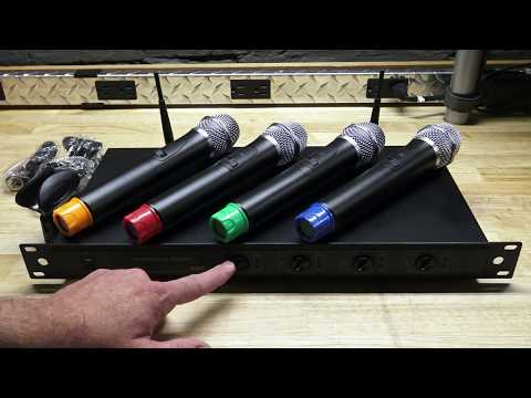 The WU 4 Channel Wireless Microphone System - American Audio WU-419V