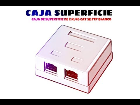 Video de Caja de superficie de 2 RJ45 Cat 5e FTP  Blanco