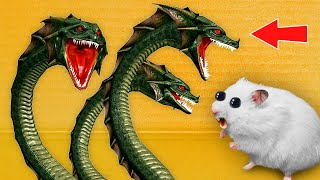 🦖 HYDRA Monster - Hamster Maze with Traps ☠️[OBSTACLE COURSE]