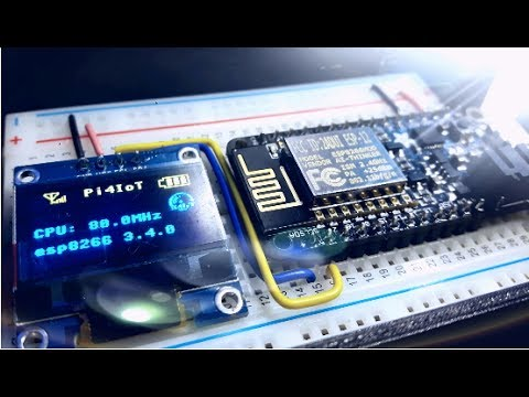 ESP8266 Part #3 – SSD1306 OLED Displays with MicroPython