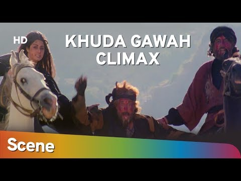 Khuda Gawah Climax Scene | Amitabh Bachchan | Sridevi | Superhit Bollywood Movie