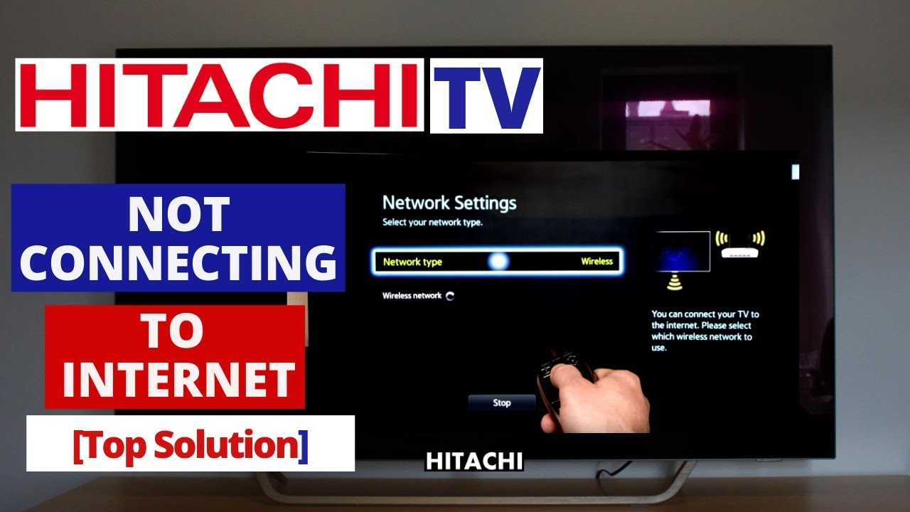 How to Fix HITACHI SMART TV Not Connecting to Internet || Hitachi TV won't  connect to Internet