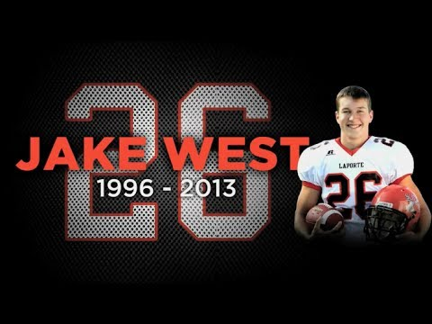 IHSAA Honors The Memory of Jake West LaPorte Football Player