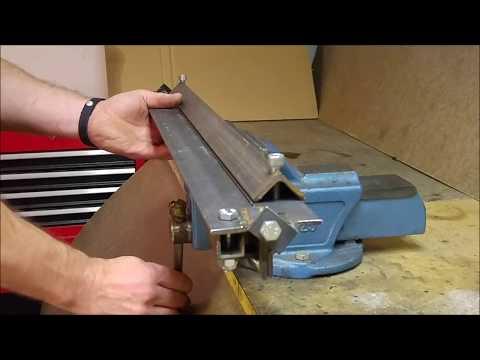 Portabelt plåtbockningsverktyg för skruvstäd GDS