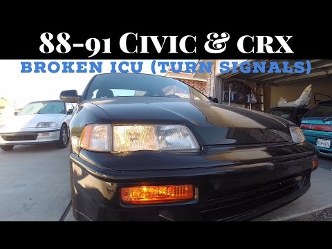 how to replace broken icu fix (fuse box) turn signals civic crx integra -  youtube