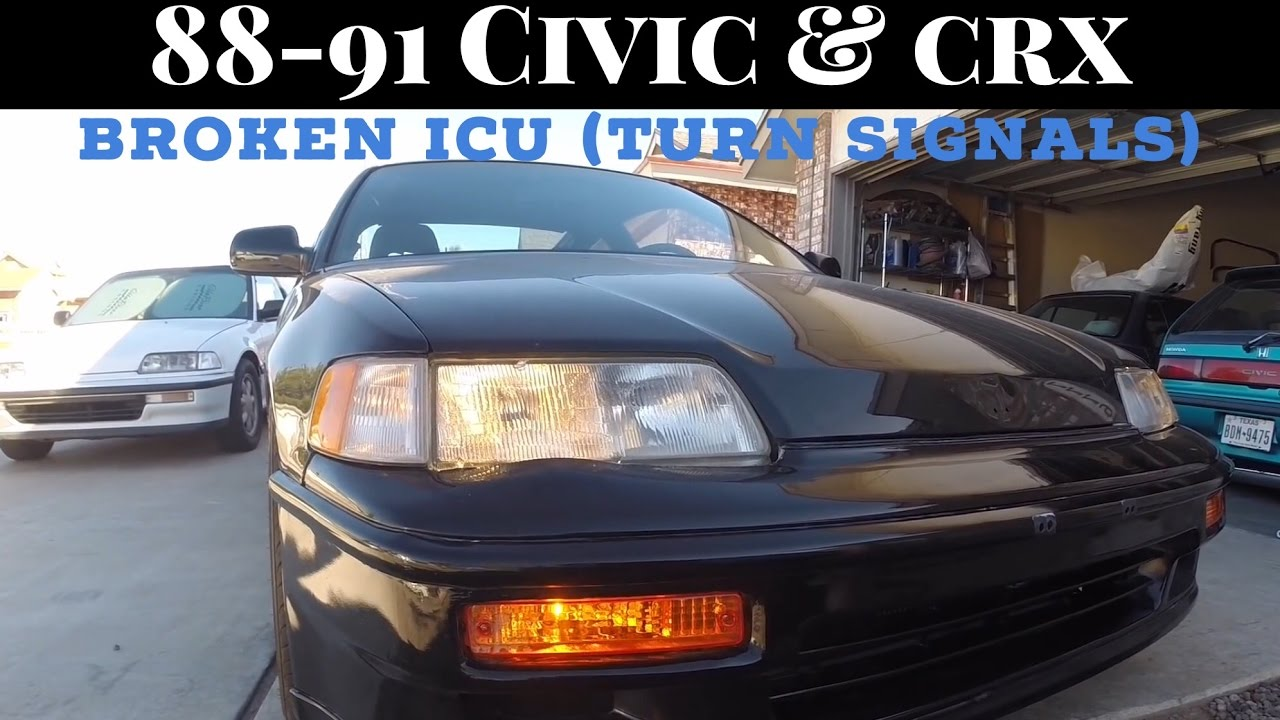 how to replace broken icu fix fuse box turn signals civic crx rh youtube com 1991 civic fuse box diagram 1991 civic fuse box