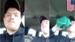 Водитель попался, запостив видео пьяного вождения в ФБ