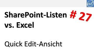 SharePoint-Listen - 27 - Quİck Edit-Ansicht