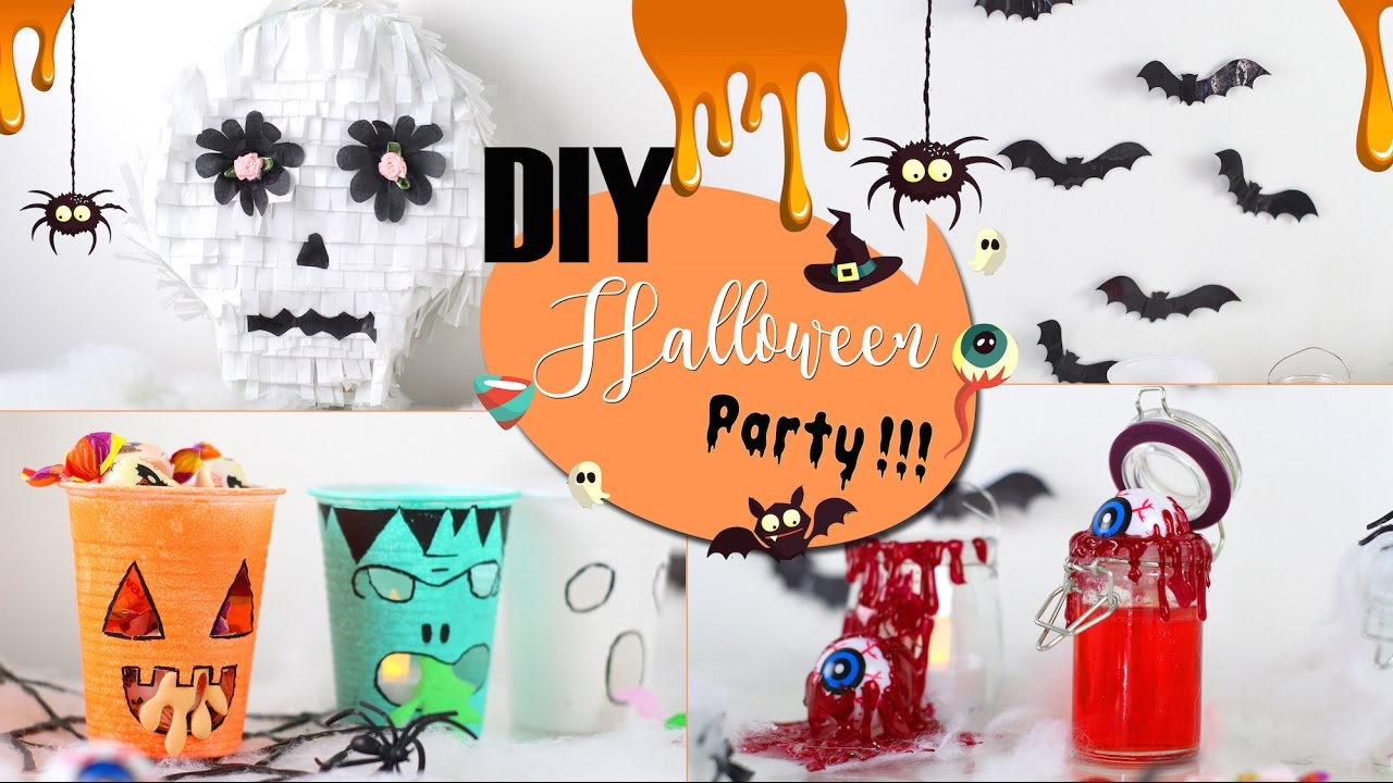 diy halloween party 6 idees decoration petit budget francais deco youtube. Black Bedroom Furniture Sets. Home Design Ideas