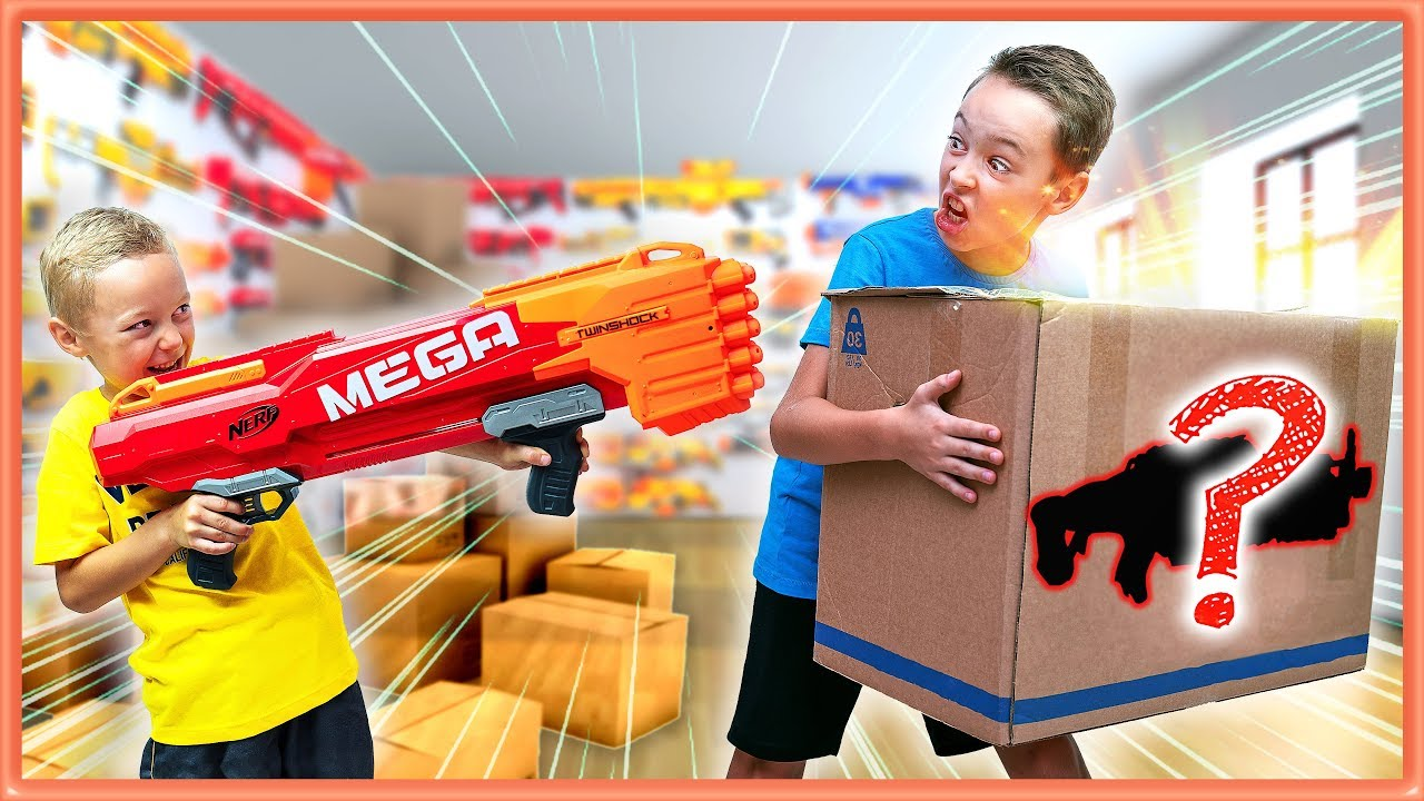Nerf Gun Game The Mystery Box Of Nerf Youtube