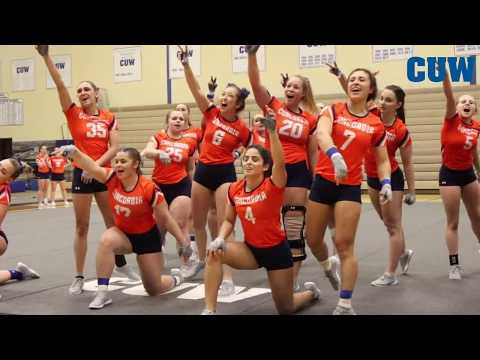 CUW Acrobatics and Tumbling highlights vs. Georgetown College (March 5, 2018)