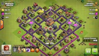 CLASH OF CLANS | ALL VALKYRIE ATTACK | LEVEL 1| LOOT | TH8