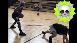 Bone Collector Ankle Breakers in Slow Motion vs Young Chinese Athletes Day 4