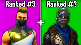 RANKING EVERY 'TIER 1' BATTLE PASS SKIN! (1,000 Fortnite Players Vote)