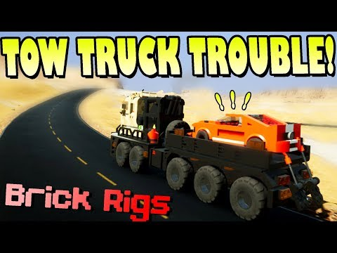 WORST TOW TRUCK FAILS EVER! - Brick Rigs Multiplayer Gameplay Ep8