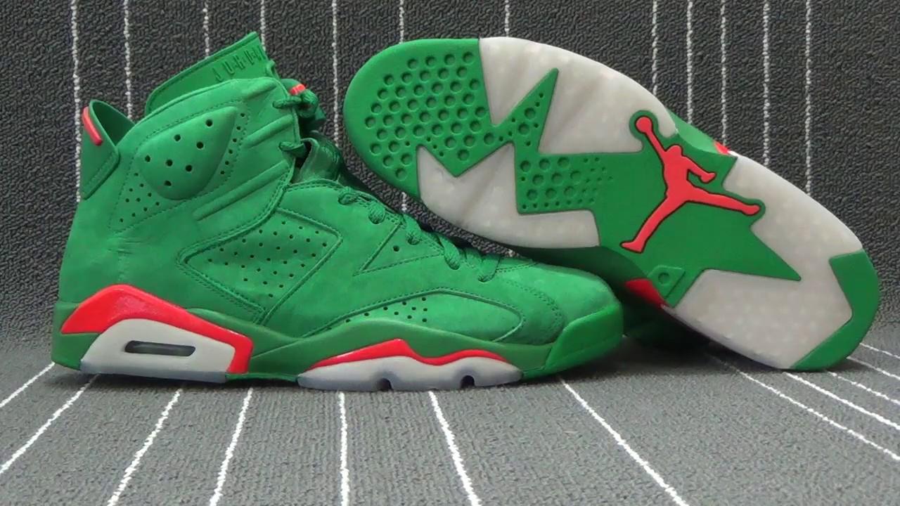 4e166a0ba0273e Authentic Air Jordan 6s Gatorade Green - YouTube