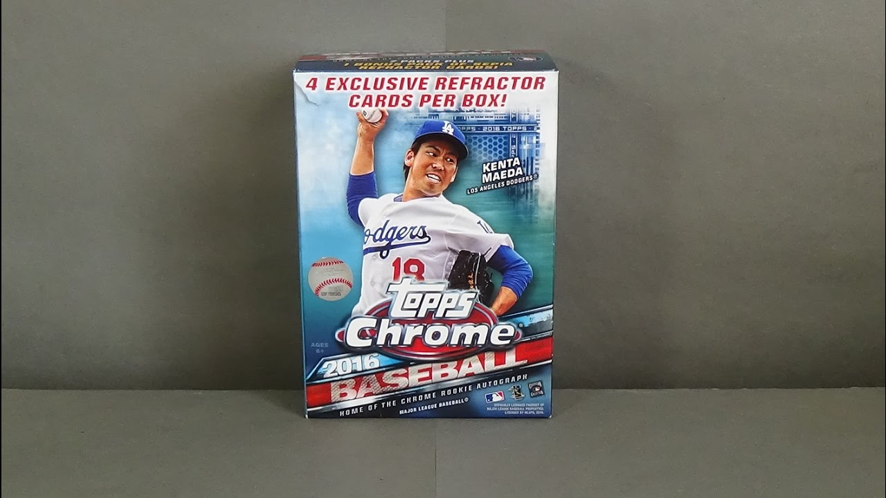 2016 Topps Chrome Baseball Blaster Box Break