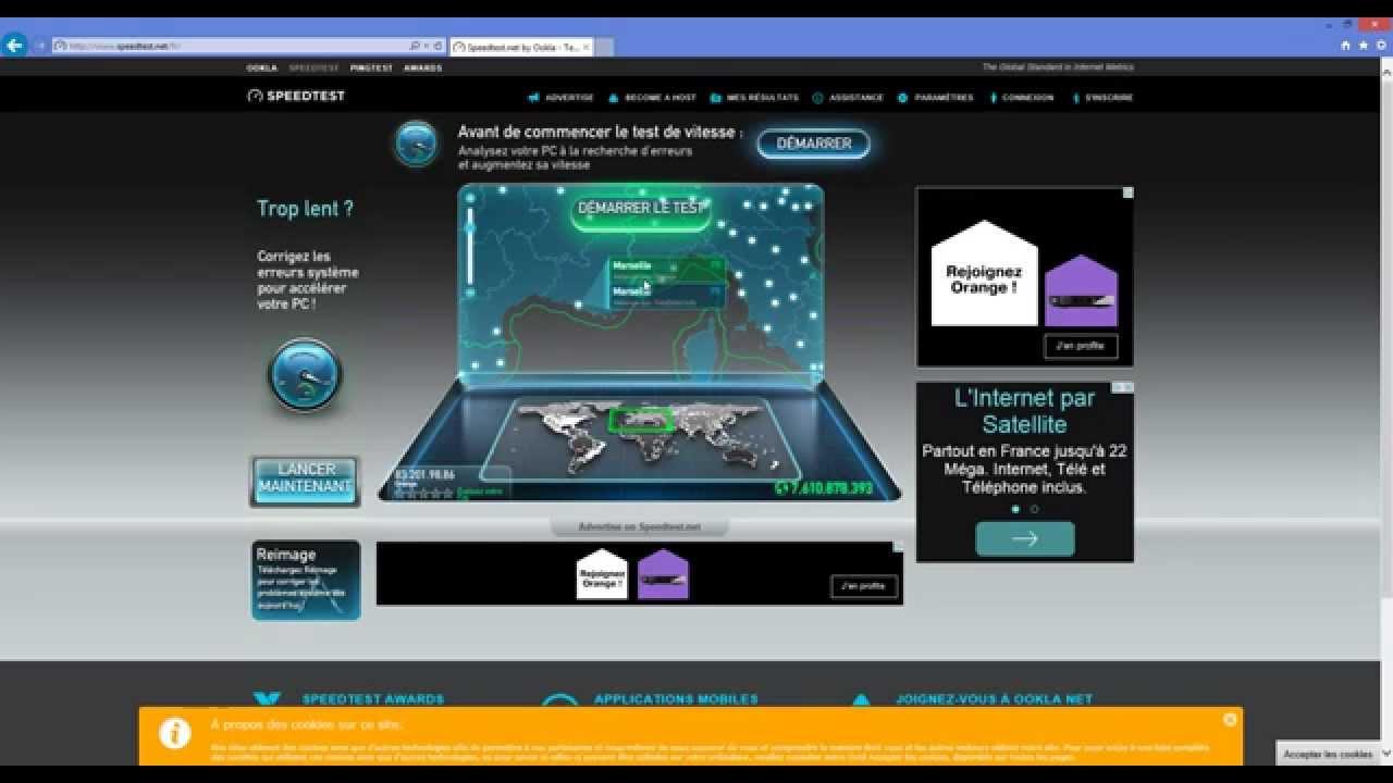 speedtest fibre orange 1gb s navigation internet youtube. Black Bedroom Furniture Sets. Home Design Ideas