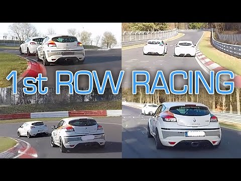 Megane RS Battle from 1st Row View ;-) - Nürburgring Nordschleife - Seat Leon Cupra
