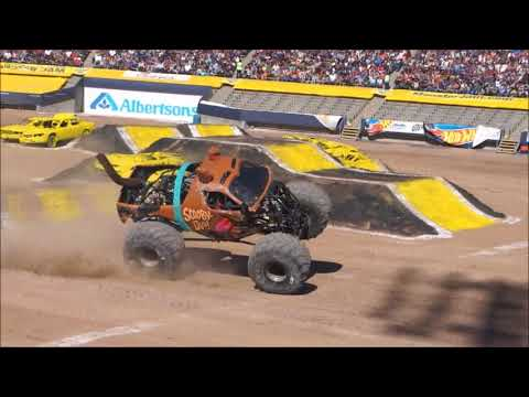Monster Jam El Paso 2018 Show 2 - FULL Two Wheels Competition -