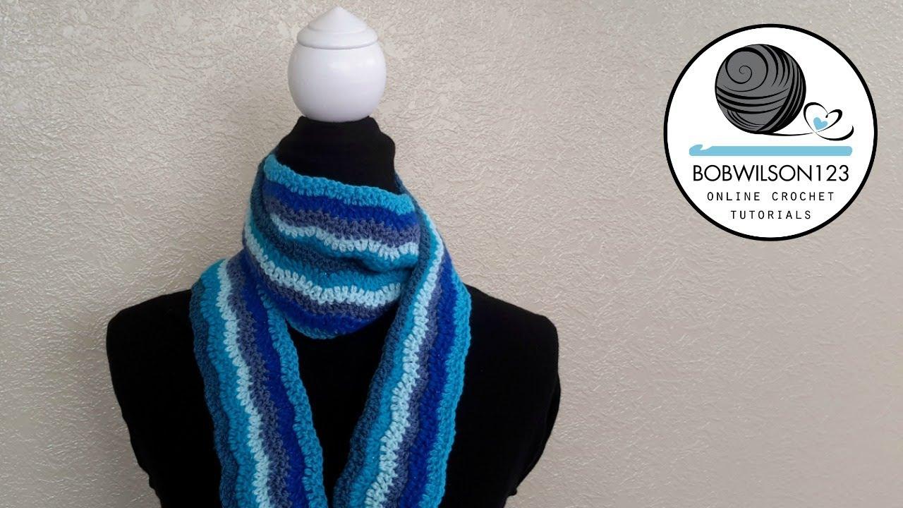 Crochet Lazy Chevron Wave Scarf Blanket Tutorial Youtube
