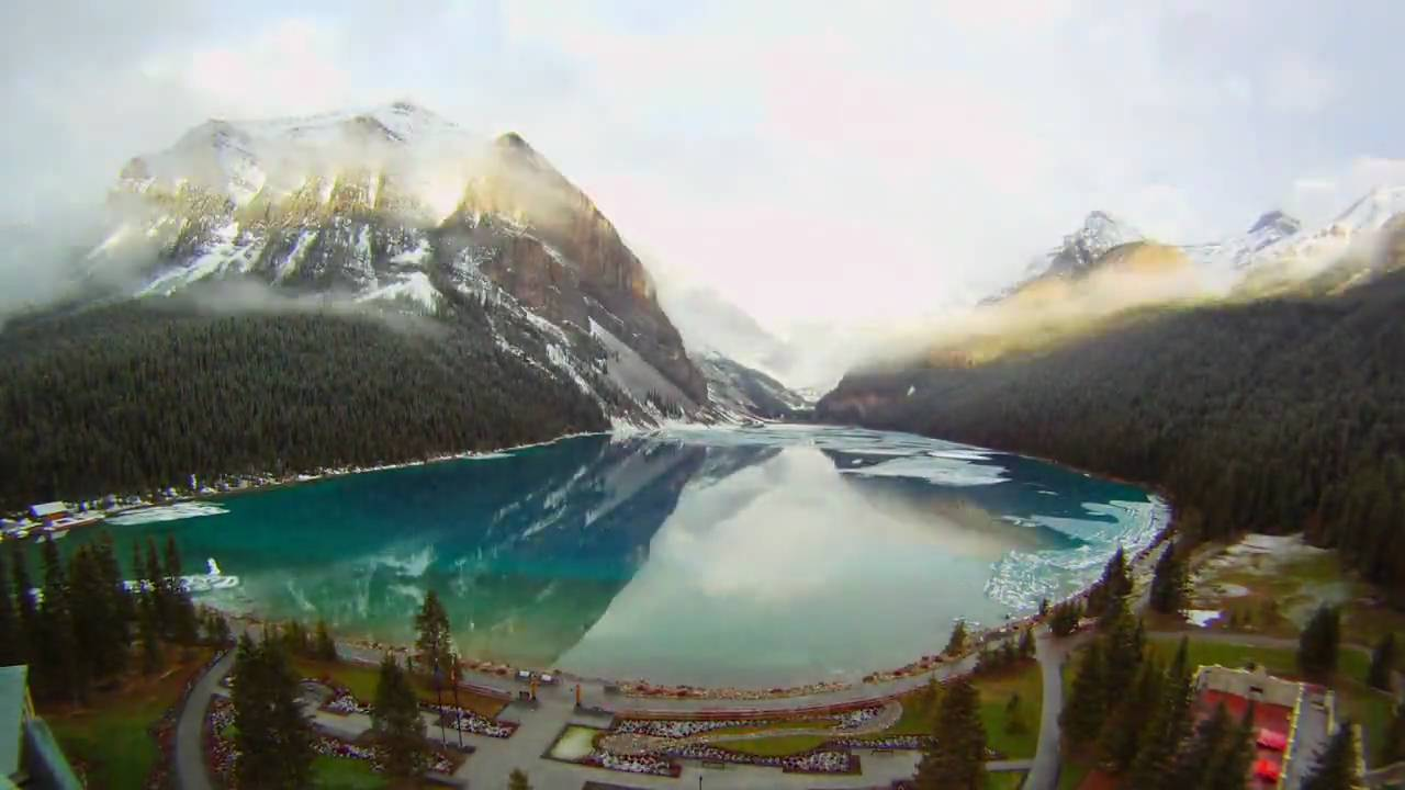 Fairmont Chateau Lake Louise Winter To Summer Timelapse