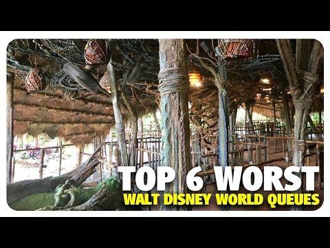TOP 6 WORST Walt Disney World Queues | Best and Worst | 04/25/18