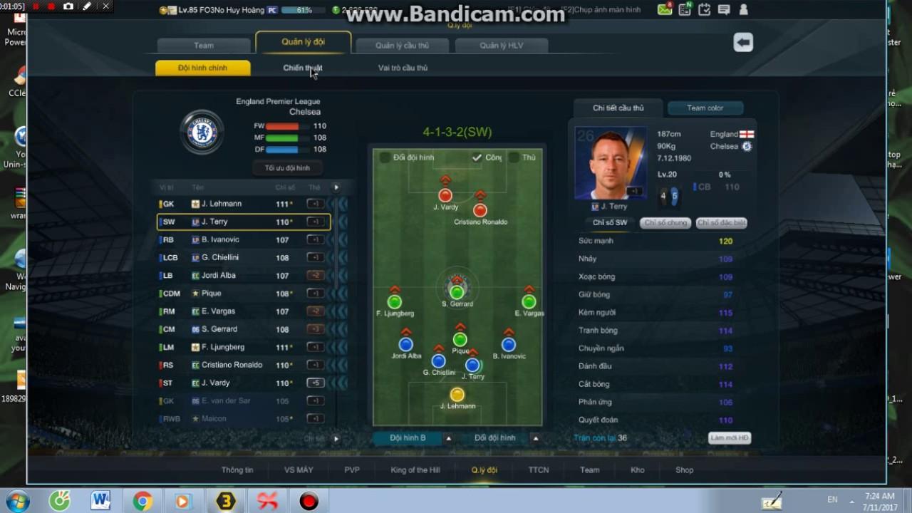 Sơ đồ chiến thuật GLXH FIFA ONLINE 3 - 4132SW (P3)