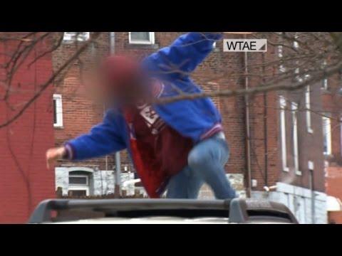 Watch: Dad destroys car of daughter's alleged rapist