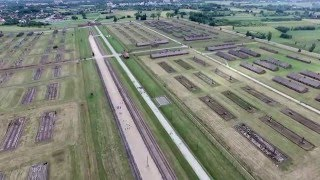 Auschwitz Birkenau Oswiecim (concentration camp), drone video, 1080p(Video recorded by DJI Phantom 3 Professional* ---ENG--- All over the world, Auschwitz has become a symbol of terror, genocide, and the Holocaust., 2015-11-22T19:18:20.000Z)