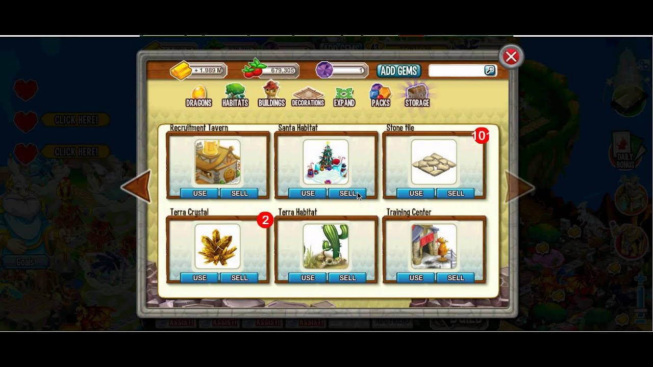 how to sell dragons on dragon city