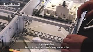 Mi - Gehäusesteg / Removing, insertion of the upper box fin