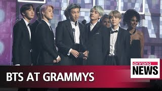 BTS present award at 61st Grammy Awards ceremony