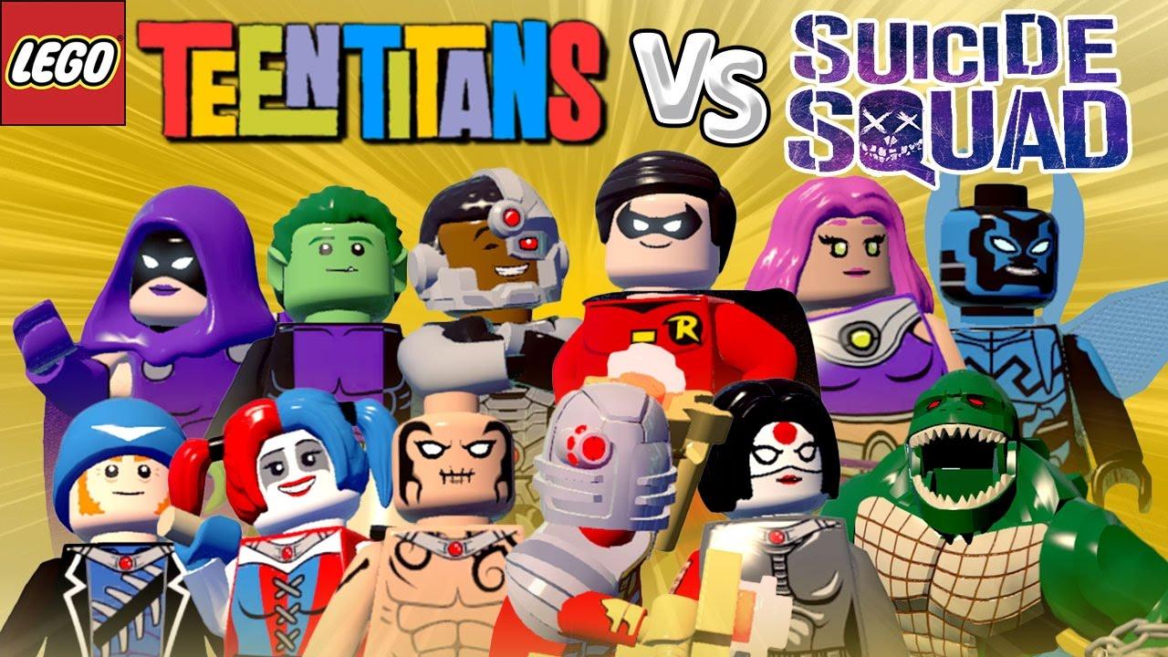 Jovens Titãs VS Esquadrão Suicida - LEGO Batman 3 | Briga de Herois #85