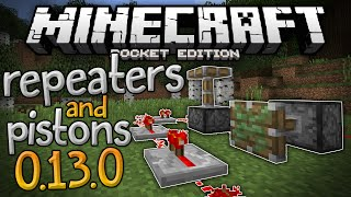 PISTONS and REPEATERS in MCPE!!! - Redstone Plus Mod for 0.13.0 - Minecraft PE (Pocket Edition)