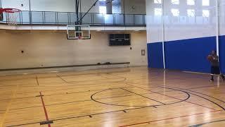 Jimmer Range @Lions Recreation Center in a Utah Jazz practice Gear