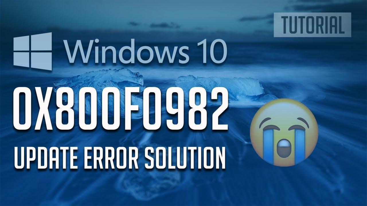 Fix Windows Update Error 0x800f0982 in Windows 10 [3 Solutions] 2019 by  TechFixIT