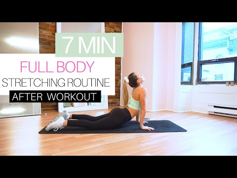 7 MIN STRETCHING EXERCISES AFTER WORKOUT | FULL BODY COOL DOWN FOR RELAXATION \u0026 FLEXIBILITY
