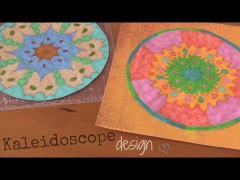 diy kaleidoscope design drawing socraftastic youtube
