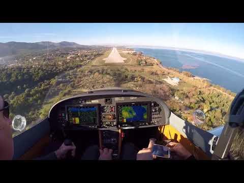 Landing Lesbos airport cockpit