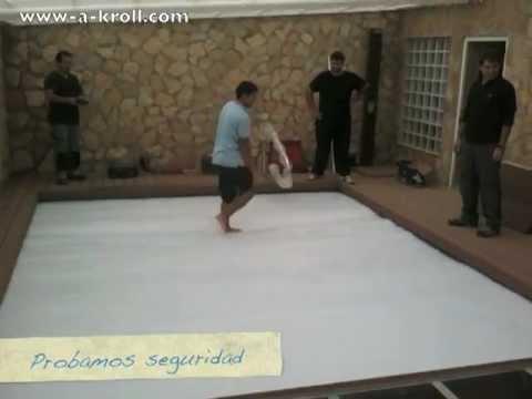 Cubierta automatica de piscina tipo persiana en Castellón