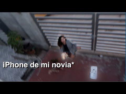 LANCE EL iPhone DE MI NOVIA POR EL BALCON!