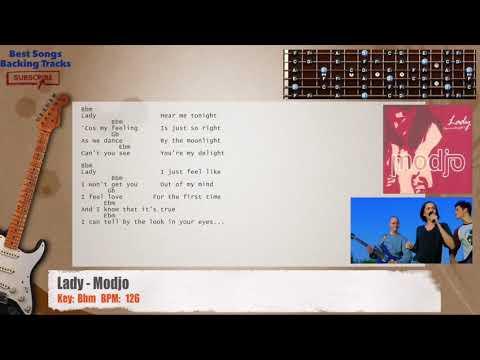 Lady - Modjo Guitar Backing Track with chords and lyrics